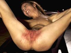 Girl get her pussy all bruised up