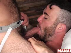 MANALIZED Hunk Damon Andros Spills Load After Hairy Bareback