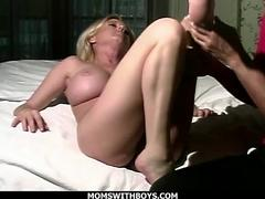 Hot Blonde Mom Hard Fucks Her Much Younger Lover