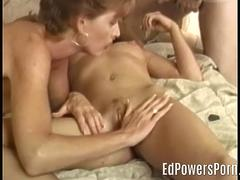 Teen in retro porn 3way