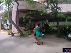 Thailand motorbike tour and bareback fuck with hot GF