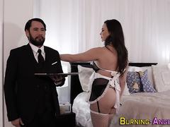 Busty emo maid analized