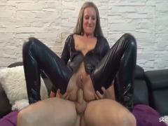 German Latex Teen Kitty at Privat DP Anal BBC Threesome Sex