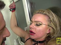 Tied up submissive fucked