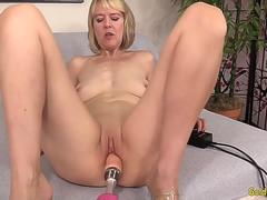 Golden Slut - Mature Women Getting Railed by Fucking Machines Compilation 1