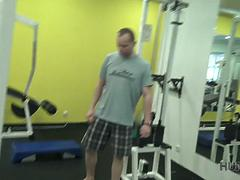 HUNT4K. Spontaneous pickup in the gym causes passionate
