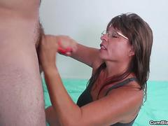 Cougar Jules Milking Big Cock