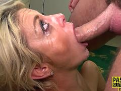 Throated submissive milf