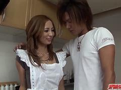 Shiori Ayase moans when the dick hits her hard - More at Japanesemamas.com
