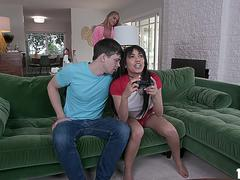 ALex D is horny as fuck, and stepmom Rachael is there to satisfy his sexual needs
