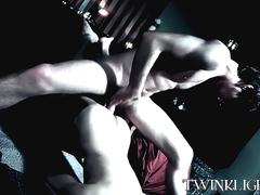 Slim gay dude has his tight ass licked and drilled hardcore