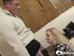 Blonde farm girl gets rammed without mercy