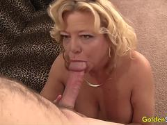 GoldenSlut - Older Ladies Show off Their Cock Sucking Skills Compilation 18