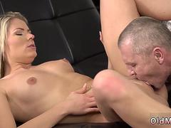Two old guys fuck young girl first time She is so splendid in this brief skirt