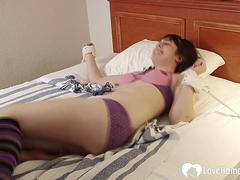 Sexy tied-up stepsister loves to get tickled