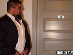 Stepson gives hunk taboo blowjob before being rammed bare