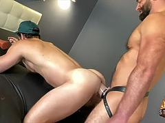 nate grimes gets extreme monster strap on fucked and fisted by jake morgan film