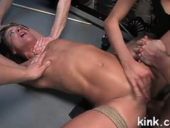 hot pretty girl dominated bdsm feature 2