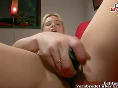 german blonde mom seduced at casting for maturbation