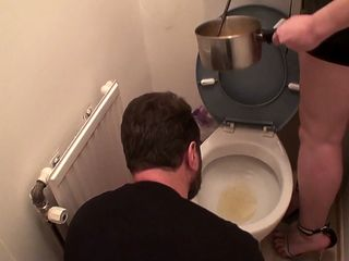 eat soup with pee from toilet