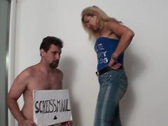 virgin loser mr. tiny get face slaps by lady bianca