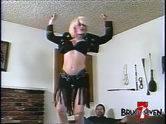 BRUCE SEVEN - Roscoe ties Lois Ayres up and gives her a spanking