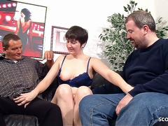 Ugly Old German Couple First Time Threesome with Stranger
