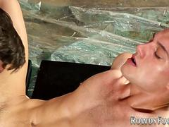Muscly gays ass plowed