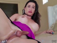TRANSEROTICA Trans Bambi Bliss Jerks Off And Anal Plays Solo