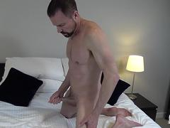 Daddy Jerks Off Dick Solo After Workout