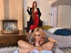 Threesome with Lauren Phillips and Sarah Jessie