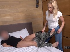 Debt4k. Collector gets payment in the form of hot sex with blonde Darina temptress