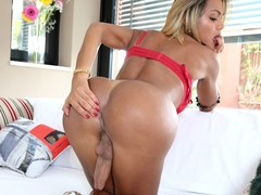 Thick big cock Tranny enjoys herself for our viewing pleasure