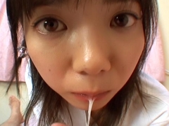 Uncensored dick sucking with Japanese cutie Kozue Matsushima