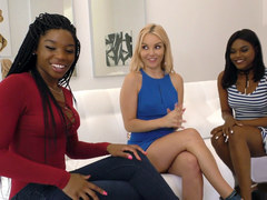 Interracial Lesbian Threesome with Aaliyah Love